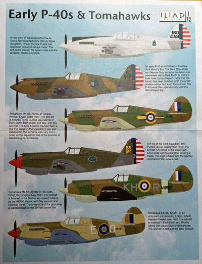 1 HN Ac Decals Iliad Design Early P40s and Tomahawks 1.72