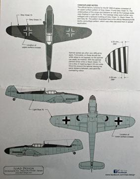 3 HN Ac Decals Iliad Design JG53 Bf 109G6 cartoon aircraft 1.32