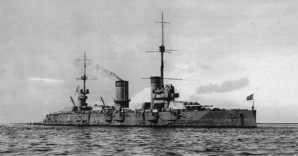 Imperial Russian battleship ''Gangut'' in Helsinki, 27 June 1915