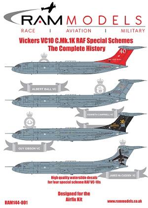 1 HN Ac Decals RAM Models Vickers VC10 CMk1K RAF Ann 1.144
