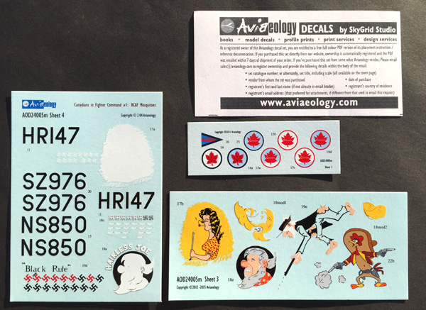 3 HN-Ac-Decals-Aviaeology-RCAF Mosquitoes and stencil data