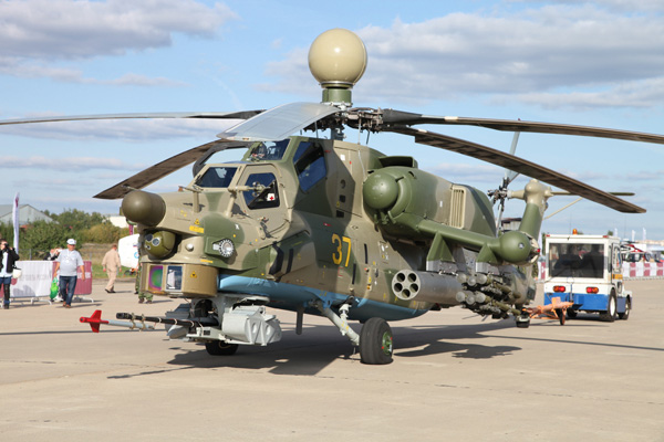 Mi 28N with radar and nose sensors