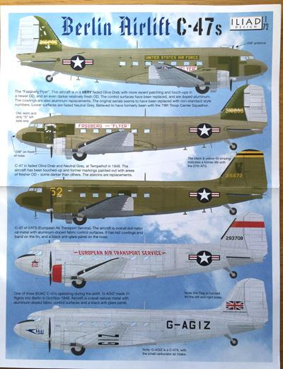 1 HN-Ac-Decals-Iliad Design-Berlin Airlift C-47s 1.72