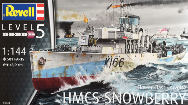 1 HN-Ma-kits-Revell-HMCS Snowberry Flower Class Corvette 1.144