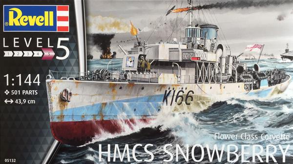 1 HN-Ma-kits-Revell-HMCS Snowberry Flower Class Corvette 1.144