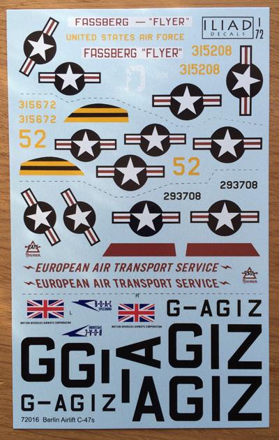 3 HN-Ac-Decals-Iliad Design-Berlin Airlift C-47s 1.72