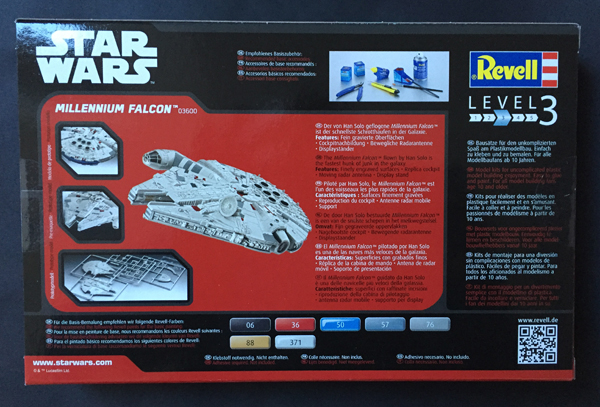 2 AC-Millenium Falcon-Star Wars-Revell- 1.241