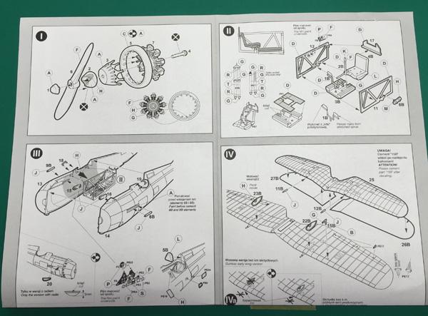 4 BN-Ac-Mirage Hobby-PZL P.IIc, 1.48 Pt1
