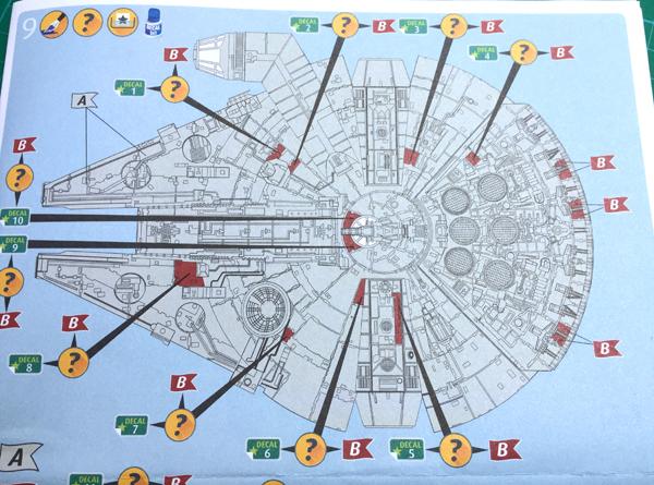 8 AC-Millenium Falcon-Star Wars-Revell- 1.241