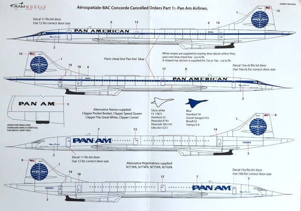 2 HN-Ac-RAM Models-Aerospatiale-BAC Concorde Cancelled Orders Part 1 1.144