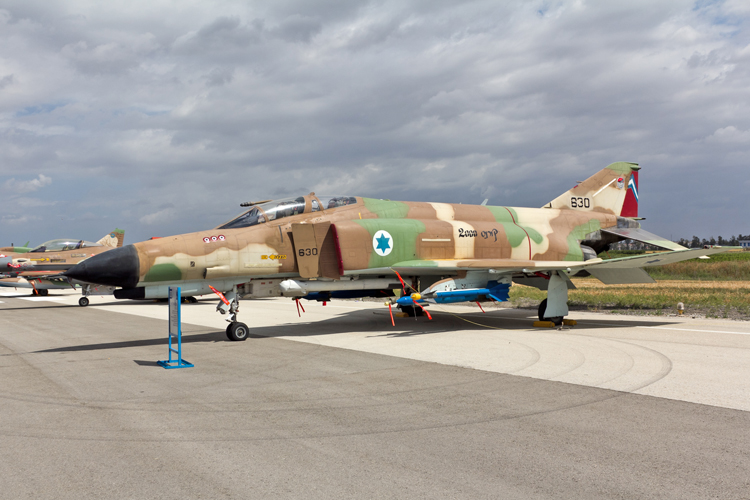 Israeli Air Force 201 Squadron F-4E Phantom II at Tel Nof, Independence Day 2013 from which the Kurnass 2000 been developed