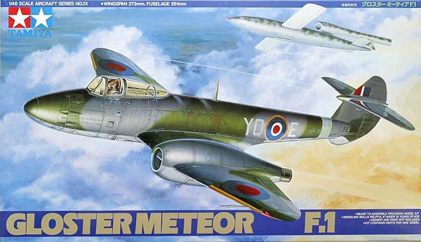 Tamiya Gloster Meteor Mk I Trent Conversion 1:48 - build