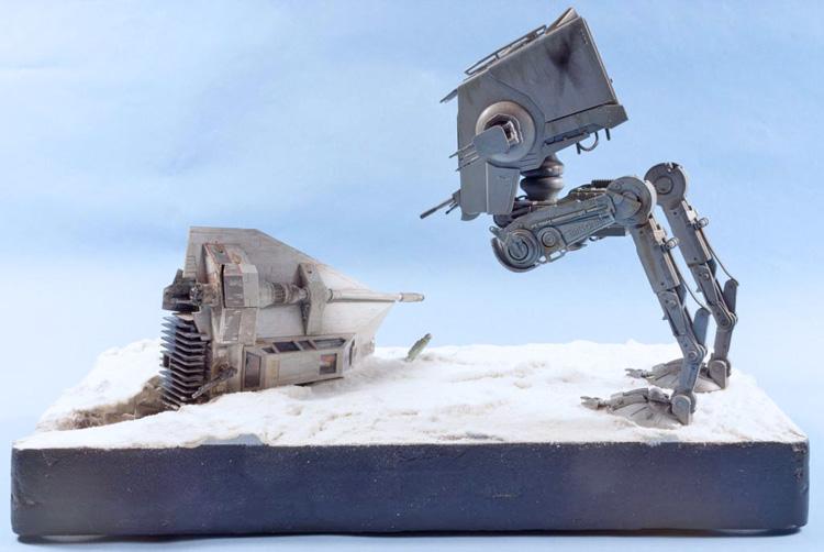 Crashed Snowspeeder Diorama Star Wars Bandai 1:48 - build review
