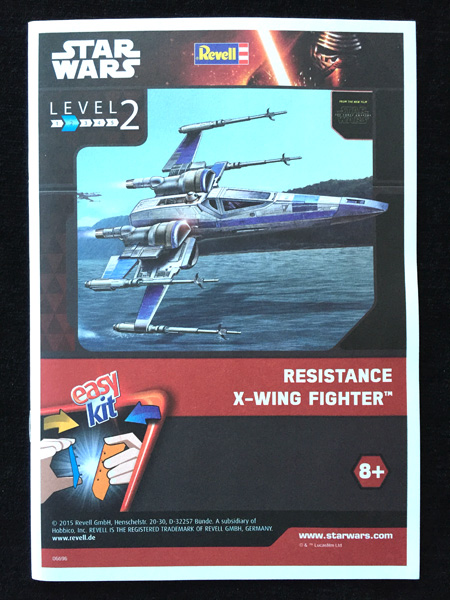 12 HN-SFF-Resistance X-Wing Fighter, Star Wars, Revell,1 50