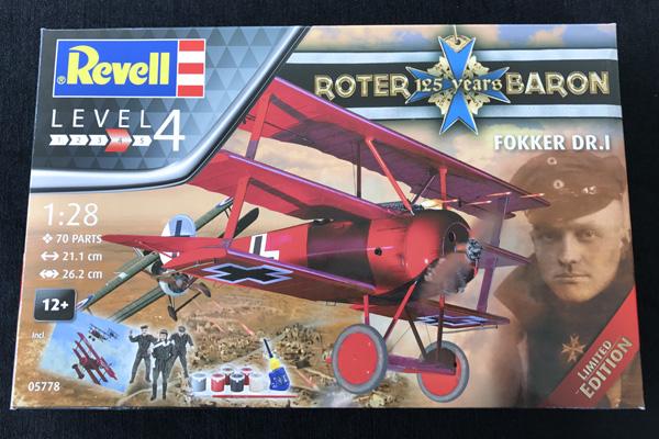 Revell04744 Dri Model Kit 1:28 Revell Fokker Dr.i Richthofen