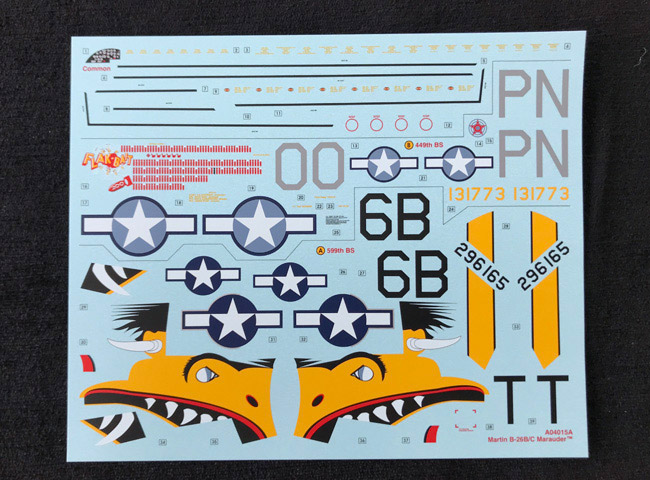 b 26 9th air force decals 1 72