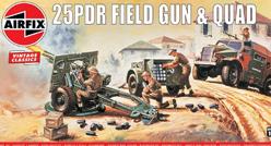 Airfix Vintage Classics - 25pdr Field Gun & Quad 1:76