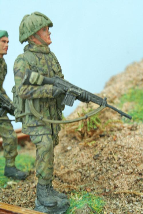 Approaching Port Stanley, Falklands War Diorama 1:32 - Scale