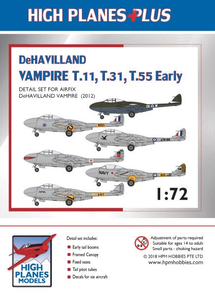High Planes Models DH Vampire T33