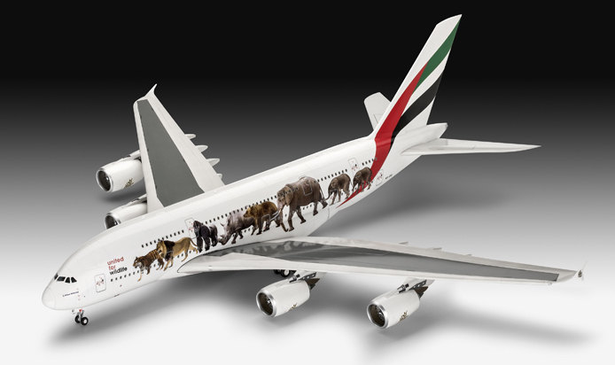 Revell Emirates A380-800 'United For Wildlife' 1:144