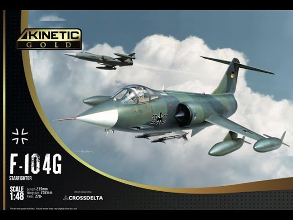 Kinetic (Gold Series) F-104G Luftwaffe Starfighter 1:48