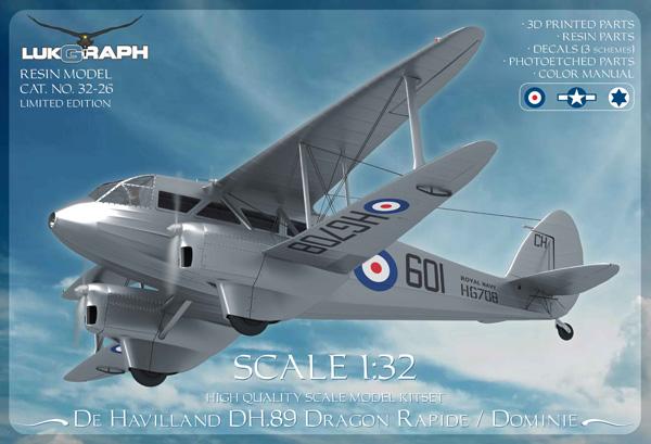 Lukgraph de Havilland DH.89 Dragon Rapide/Dominie 1:32