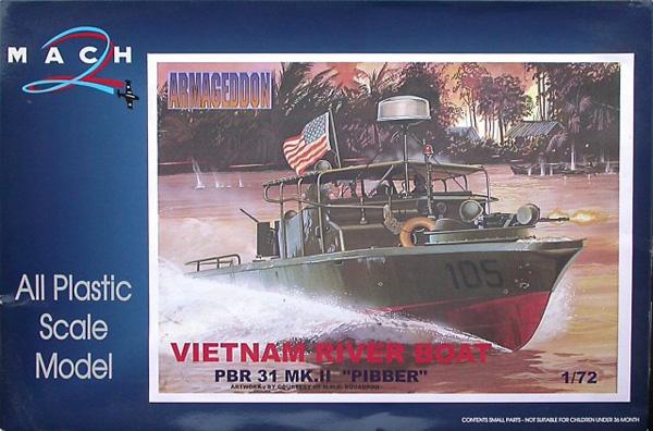 Mach 2 Vietnam River Boat PBR 31 Mk.II Pibber 1:72
