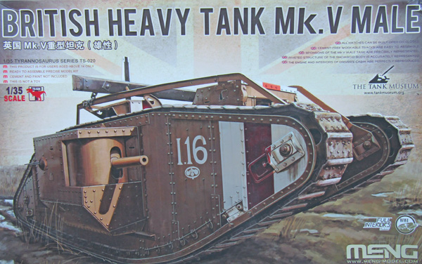 Meng British Heavy Tank Mk.V Male with interior France