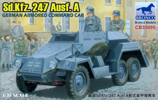 Bronco Sd.Kfz.247 Ausf.A German Armored Car 1:35