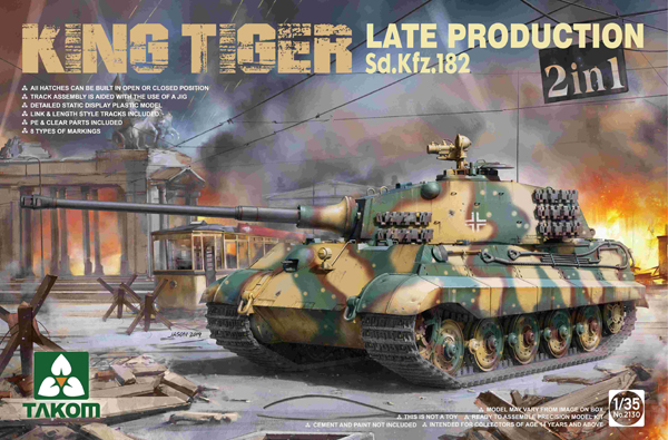 Takom King Tiger Late Production Sd.Kfz182 1:35