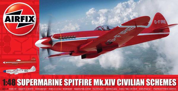 Airfix Supermarine Spitfire Mk.XIV Civilian Schemes 1:48