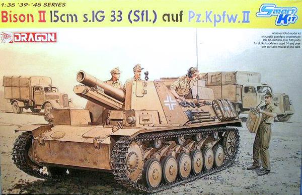 Dragon/DML Bison II 15cms IG33 Sfl auf PzKpfw II 1:35